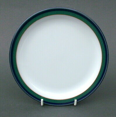 1990's Denby Regatta Blue & Green Pattern Lge Size Dinner Plates 26cm - in VGC