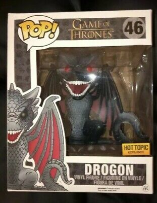 Funko Pop! Game of Thrones 6 Inch Drogon #46 Red Eyes Hot Topic Exclusive ~NIB~