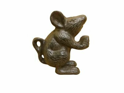 Set of 2 - Cast Iron Mouse Book Ends 5""