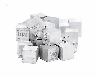 Magnesium Metal 1 Inch 25.4mm Density Cube 99.95% Pure for Element Collection