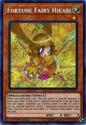 3x Fortune Fairy Hikari - BLHR-EN014 - Secret Rare 1st Edition - Playset (3)