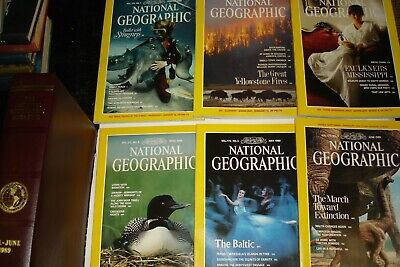 National Geographic Magazine JAN.-JUNE 1989 >SLIPCASE<COCAINE PARKS CHINA ++++++