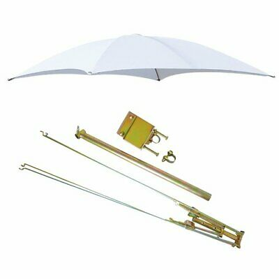 """ROPS Tractor Umbrella with Frame & Mounting Bracket 54"""" - White"""