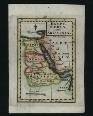 1837 MALTE-BRUN MAP of Ancient Egypt, Nubia, and Abyssinia (Ethiopia