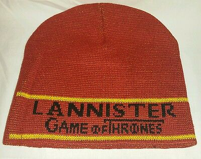 NWT Official HBO Game of Thrones Woven House Lannister 2 sided Beanie Hat NEW
