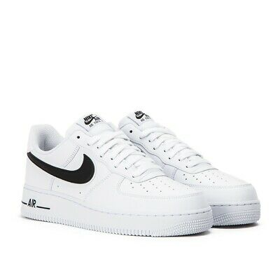 NIKE AIR FORCE 1 '07  3  MEN'S SHOES WHITE / BLACK  AO2423-101 Size 10.5