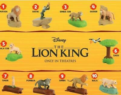 2019 McDONALD'S THE LION KING HAPPY MEAL TOYS Choose Your character SHIPS NOW