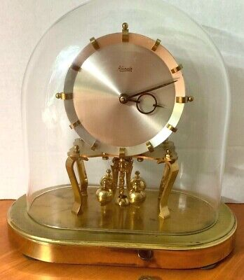 Vintage Kundo oval glass dome clock made in W Germany anniversary 400 day