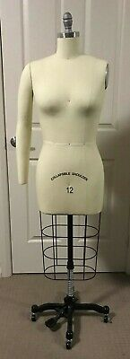 Professional dressmaking model size 12 with collapsible shoulder