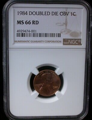 1984 1C Ngc Ms 66 Rd Doubled Die Obverse 1984 Lincoln Memorial Cent Penny