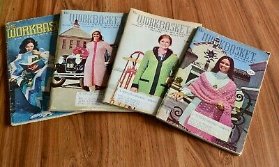 Vintage Workbasket Magazine Lot of Four from 1970s