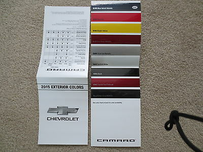 2019 CAMARO SS Zl1 1Le Factory New Color Chip Chart Brochure New And