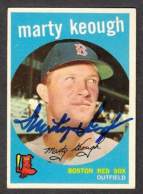 1959 Topps MARTY KEOUGH Boston Red Sox Autograph MLB Baseball Signed Card #303