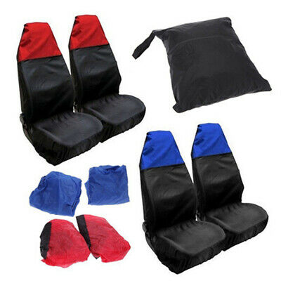 2PCS Universal Waterproof Front Seat Covers Protector Nylon+PVC for Car Auto Van