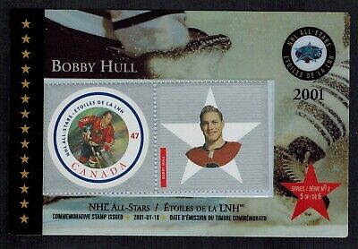 Canada Post Office 2001 NHL Hockey All Stars Thematic Bobby Hull #101c NHVF