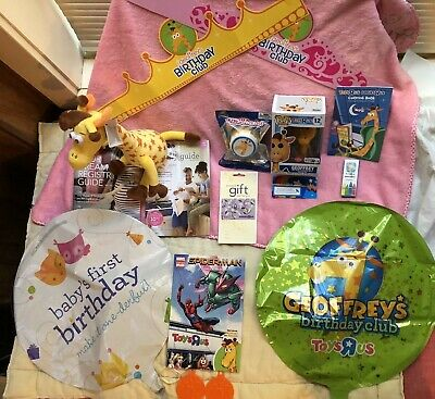 Toys R Us LOT BUNDLE Geoffrey Giraffe FUNKO Flocked #12, Balloons, COMIC, Plush