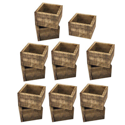 BULK BUY SET 15 x SMALL DISTRESSED CUTLERY BOX each with 4 DL Menu pockets
