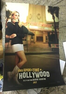 ONCE UPON A TIME IN HOLLYWOOD original D/S 27x40 movie poster
