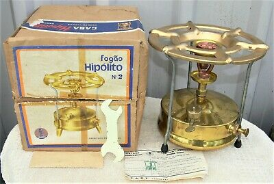As new unused Hipolito No 2 kerosene primus stove in orig box with accessories.