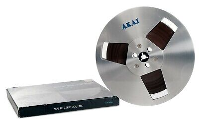 "7"" 7 Inch Akai R-7M w/ Original Box Metal Reel for Reel to Reel Tape Recorder"