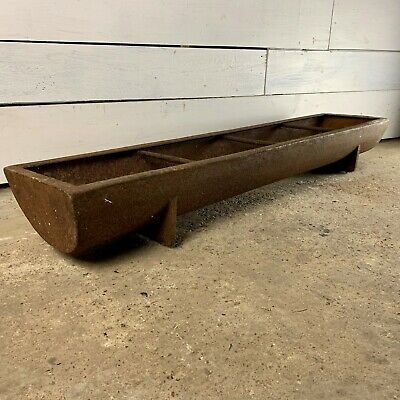 Vintage Cast Iron Trough Planter from Diss Foundry