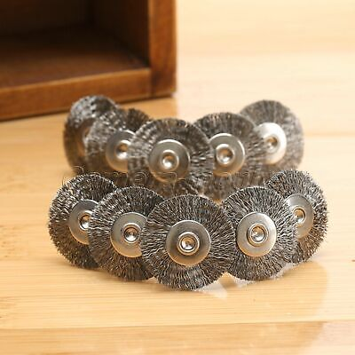 10pcs Steel Wire Wheel Brushes Polishing Rotary Tools Die Grinder Accessories UK