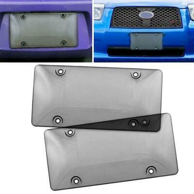 2x Bubble Tinted- Smoke License Plate Tag Frame Cover Shield Car Truck Free Spk