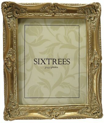 Sixtrees Chelsea Shabby Chic Vintage Ornate Antique Gold 10x8 inch Photo frame