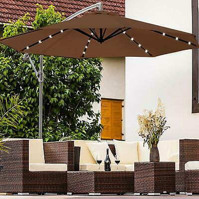 Large 3M 40Led Outdoor Solar Patio Garden Lights Umbrella Fairy Parasol Sunshade