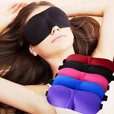 Travel 3D Soft Padded Blindfold Blackout Eye Mask Shade Cover For Sleep Rest Aid