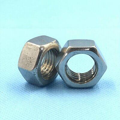 12Pcs Stainless Steel M8 x 1.25 Hex Nut Right Hand Thread [DORL_A]