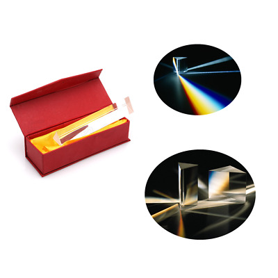 Optical Glass Equilateral Triple Triangular Triangle Prism Optics Experiment L