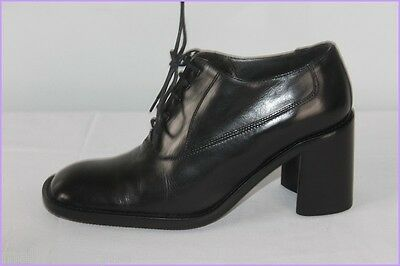 Court Shoes Lace Clif all Leather Black T 35.5 Very Good Condition