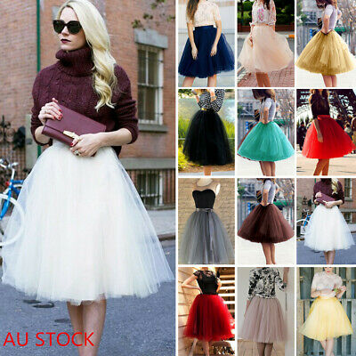 AU Women Girls Tutu Skirt Lady Vintage Petticoat Tulle Dress 50s Party Skirt