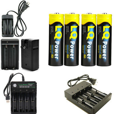 NEW 5800mAh 18650 Battery 3.7v Li-ion Rechargeable 18650 Batteries with Charger