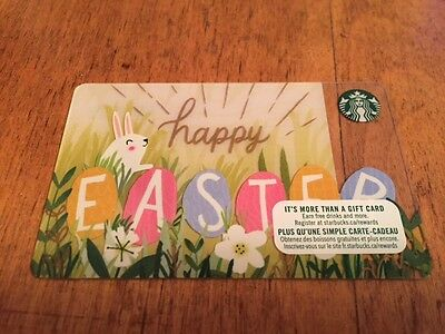 """Canada Series Starbucks """"HAPPY EASTER 2017"""" Gift Card - New No Value"""