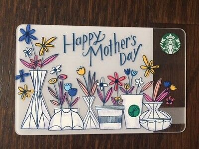 """Canada Series Starbucks """"2017 HAPPY MOTHERS DAY"""" Gift Card - New No Value"""