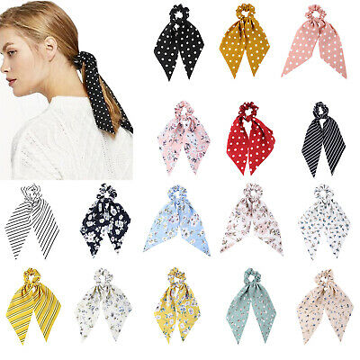 Boho Women Girl's Ponytail Hair Scarf Scrunchies Bow Hair Rope Tie Accessories