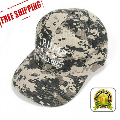 Donald Trump 2020 Camo Hat Embroidered No Bullshit Cap President Election Hat w7