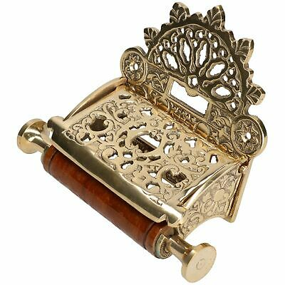 Brass Toilet Roll Paper Holder Lidded Brass Finish Antique Victorian Style Metal