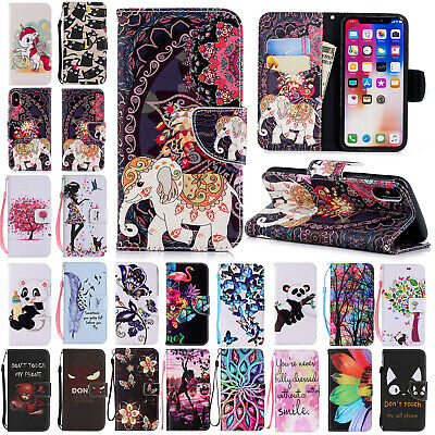 For Apple iPhone 5s X 7 8 Plus 6s Case Leather Magnetic Flip Stand Wallet Cover