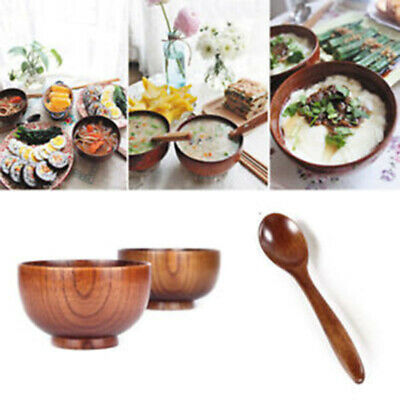 Natural Jujube Wooden Bowl Japanese Chinese Bailer Soup Noodles Wood Salad Rice