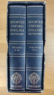 Shorter Oxford English Dictionary Deluxe Leather Hardback Sixth Edition