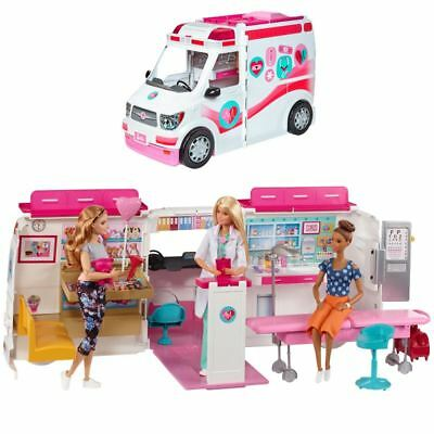 Barbie Large transforming Medical Rescue Vehicle Playset NEW