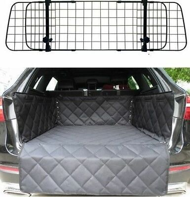 Heavy Duty Headrest Wire Mesh Pet Guard Barrier + Quilted Boot Liner Protector