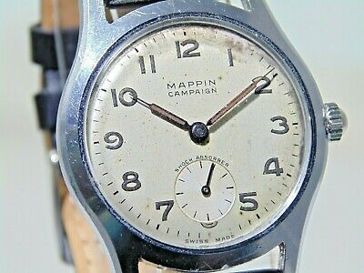 Maritime interest: MAPPIN Campaign men's vintage 1950s 17 jewel watch - serviced