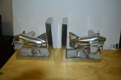 Aluminum  Aircraft vintage Bookends