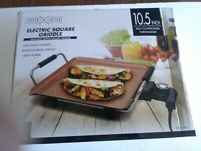 Copper Cuisine Electric Square Griddle---New