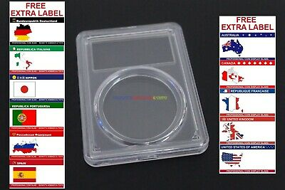 1 x New Coin Slab Holder PCGS Style (39mm) Display Case with Free Extra Label
