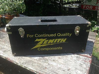 Vintage Zenith Tube Radio Carrying Case Repairman Service Tool Box Double sided